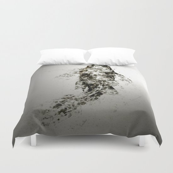 Koi Aluminium Duvet Cover