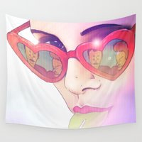 lolita Wall Tapestries featuring Lolita by Camila Fernandez