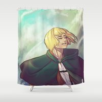 shingeki no kyojin Shower Curtains featuring Armin by For-the-Saba