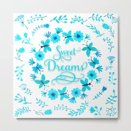 Sweet Dreams - Light Blue Metal Print