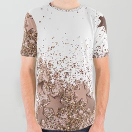 SHAKY STARS ROSEGOLD All Over Graphic Tee