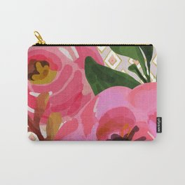 Composition watercolor flowers and rhombuses Carry-All Pouch