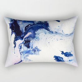Riveting Abstract Watercolor Painting Rectangular Pillow