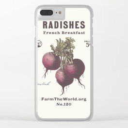 Farm the World Radish Seed Packet Clear iPhone Case