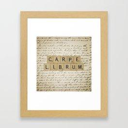 Carpe Librum [seize the book] Framed Art Print