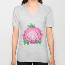Womens Rose Vagina Womens Shirt Pussy Flower Pussies Vag Puss Gift Unisex V-Neck