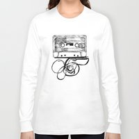 tape Long Sleeve T-shirts featuring K7 TAPE by Vickn