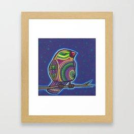 Colourful doodlebird Framed Art Print