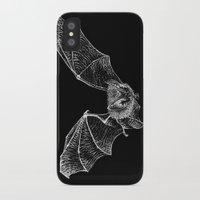 bat iPhone & iPod Cases featuring Bat by Cortney Palmer Art