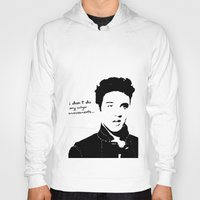 elvis Hoodies featuring Elvis by heyokawolf