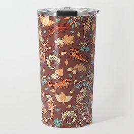Autumn Geckos in light brown Travel Mug