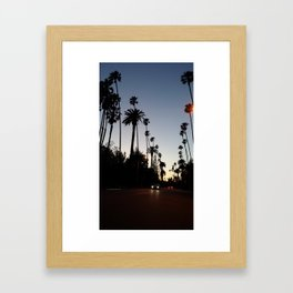 Bev Hills at Dusk Framed Art Print