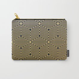 Art deco gold black geometric pattern Carry-All Pouch
