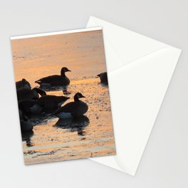 Geese at Sunset Stationery Cards