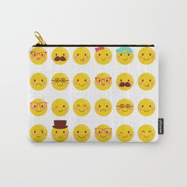 Cheeky Emoji Faces Carry-All Pouch