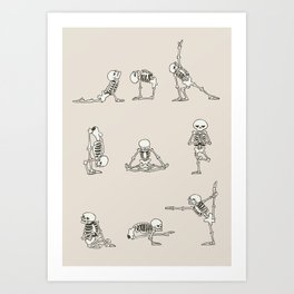 Skeleton Yoga Art Print
