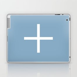 white cross on placid blue background Laptop & iPad Skin
