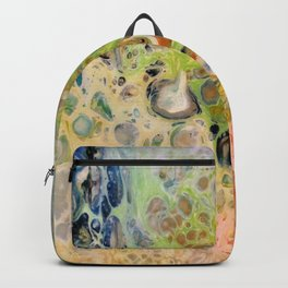 Colorful cells - pour painting Backpack