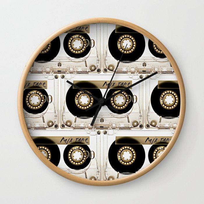 Transparant mix tape Retro Cassette Wall Clock