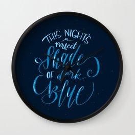 Perfect Shade of Dark Blue - Jack's Mannequin Lyrics Wall Clock
