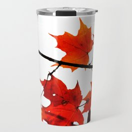 Sugar Maple Leaves in Autumn Travel Mug
