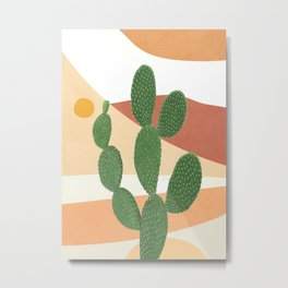 Abstract Cactus II Metal Print