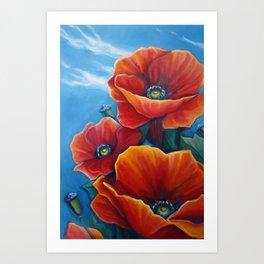 Poppy Breeze Art Print