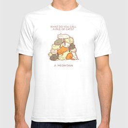 Meowtain - With Text T-shirt