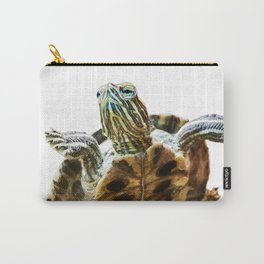 Small red-eared turtle in aquarium Carry-All Pouch