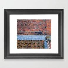 Cat Graffiti Framed Art Print