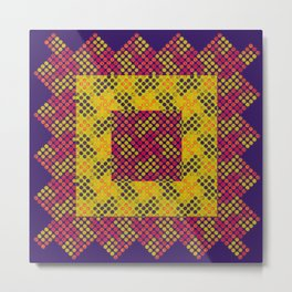Dot Swatch Equivocated on Purple Metal Print