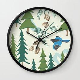 Sierra Forest Wall Clock