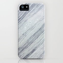 Gray white abstract geometrical stripes marble iPhone Case