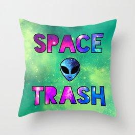 Space Trash Throw Pillow