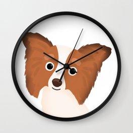 Papillon - Cute Dog Series Wall Clock