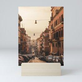 Streets in Rome Mini Art Print