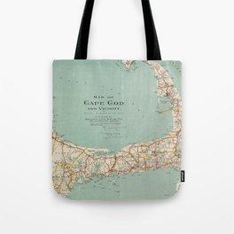 Vintage Map of Cape Cod (1917) Tote Bag