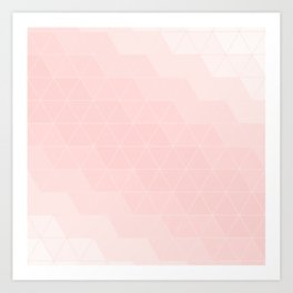Pink Coral Triangles Art Print