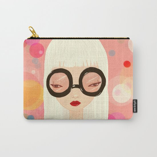 Girl with big glasses (II) Carry-All Pouch