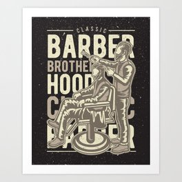 Barber Brotherhood Art Print