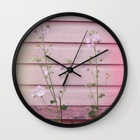 finland Wall Clocks featuring Porvoo I- Finland by Cynthia del Rio