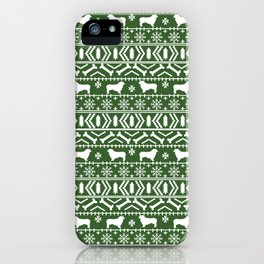 Australian Shepherd dog breed fair isle christmas sweater gifts cute dog patterns iPhone Case