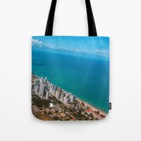 brazil Tote Bags featuring Brazil Beach by Mauricio Santana
