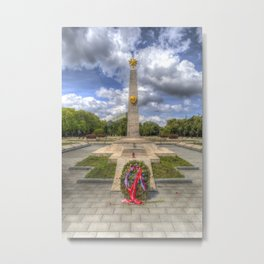 Russian War Memorial Budapest Metal Print