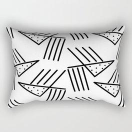 Falling Nachos Rectangular Pillow