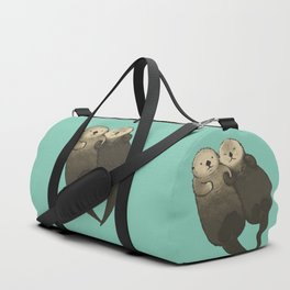 Significant Otters - Otters Holding Hands Duffle Bag