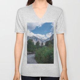 River & Mountains Unisex V-Neck