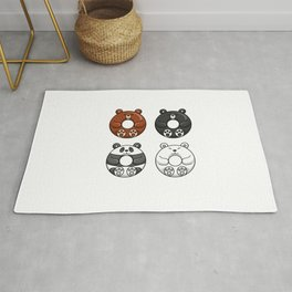 Four Cute Bears Are Donuts Rug