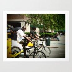Pedicab Driver Art Print