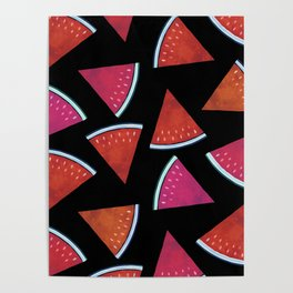 Midnight Snack - Watermelon Slices Poster